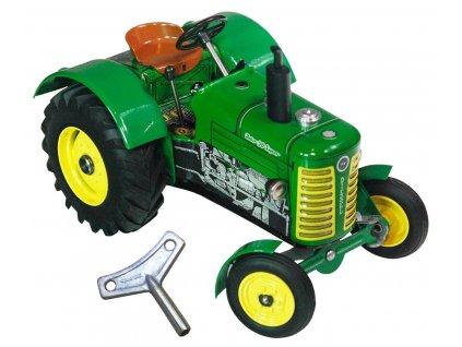 TRAKTOR ZETOR 50 SUPER NA KLÍČEK - Kovová hračka certifikovaná pro děti od 3 let.
