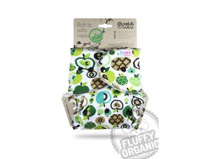 101822 Kalhotkova plena Jablka zelena organic pat