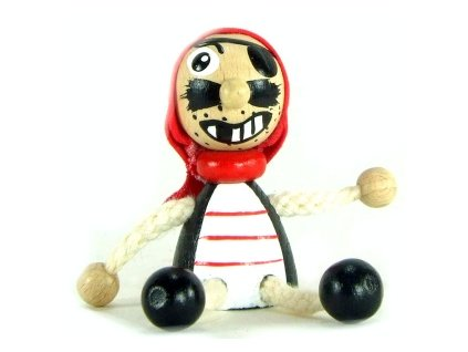 Figurka magnetka ze dřeva - Pirát
