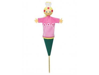 Střední kornoutový maňásek Víla - hračka z textilu