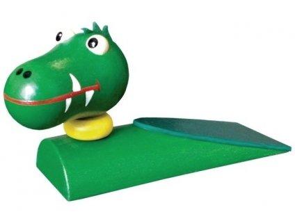 Zarážka pod dveře hračka ze dřeva - Krokodýl