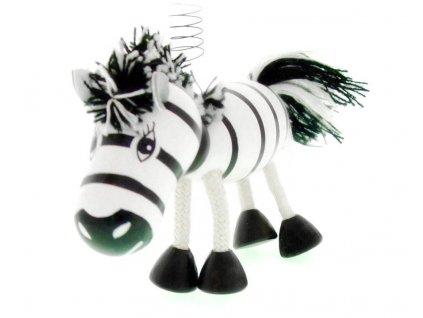 30013 (3) zoo zebra na pruzine ze dreva pro deti