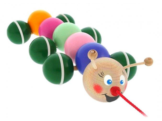 Tahací píďala hračka ze dřeva Violet