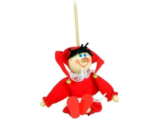 Loutka na tyči hračka ze dřeva - Kašpárek
