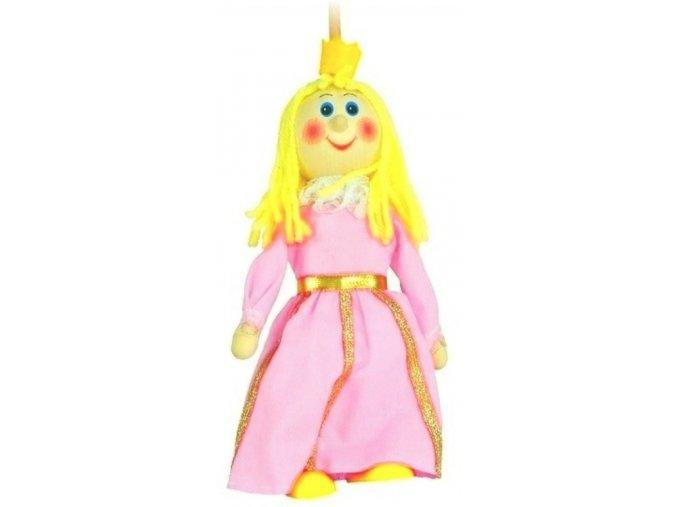Loutka na tyči hračka ze dřeva - Princezna růžová