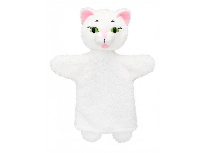 Maňásek - Kočička bílá - hračka z textilu