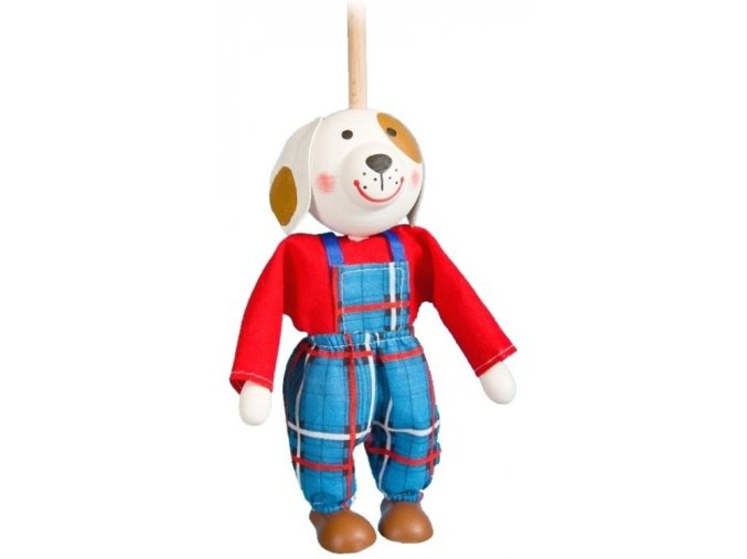 Loutka na tyči hračka ze dřeva - pes