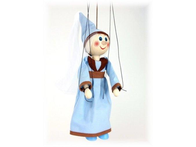 Dřevěná loutka - hračka ze dřeva - Středověka královna