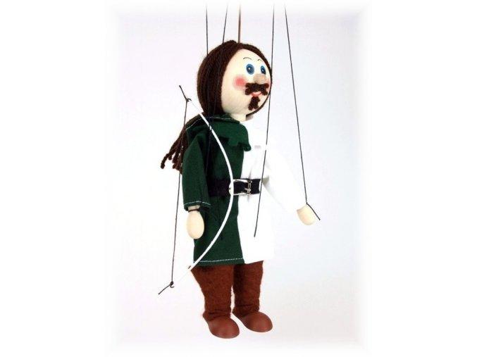 Dřevěná loutka - hračka ze dřeva - Lukostřelec