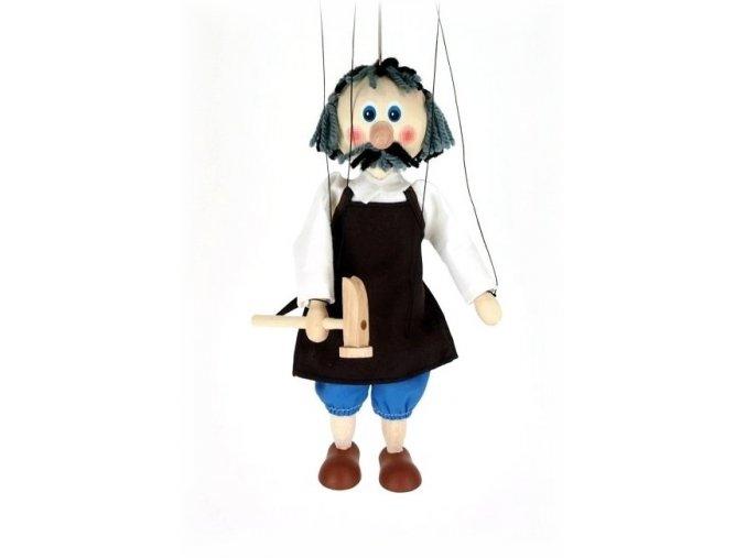 Dřevěná loutka - hračka ze dřeva - Švec