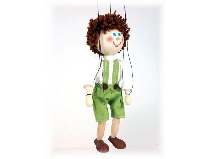 Dřevěná loutka - hračka ze dřeva - Jeníček