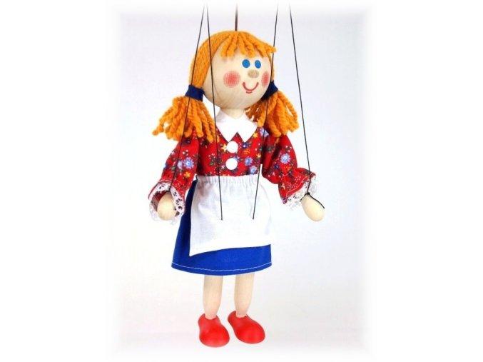 Dřevěná loutka - hračka ze dřeva - Mařenka
