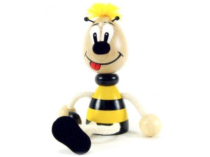 Sedací figurka hračka ze dřeva - Čmelák