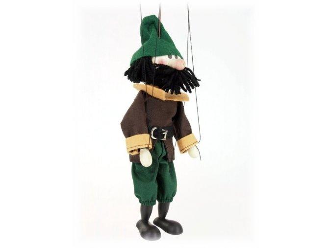 Dřevěná loutka - hračka ze dřeva - Loupežník