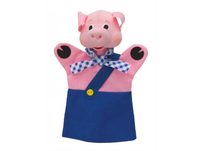 Maňásek - Prasátko Bobík - hračka z textilu