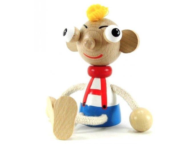 Sedací figurka hračka ze dřeva - Hurvínek