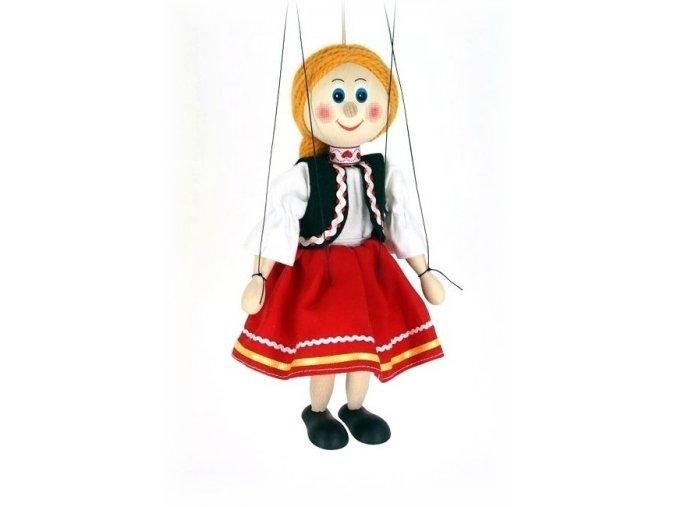 Dřevěná loutka - hračka ze dřeva - Holka