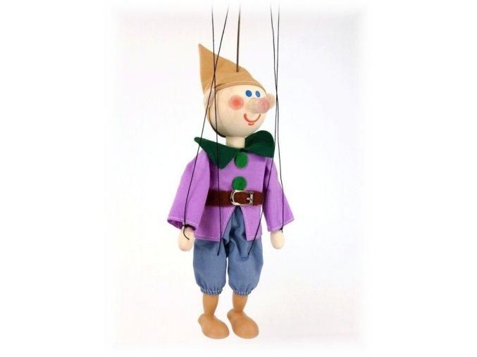 Dřevěná loutka - hračka ze dřeva - Trpaslík Šmudla