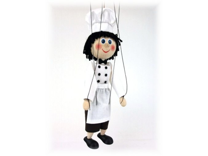 Dřevěná loutka - hračka ze dřeva - Kuchař
