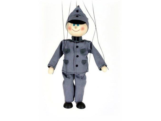 Dřevěná loutka - hračka ze dřeva - Voják Švejk