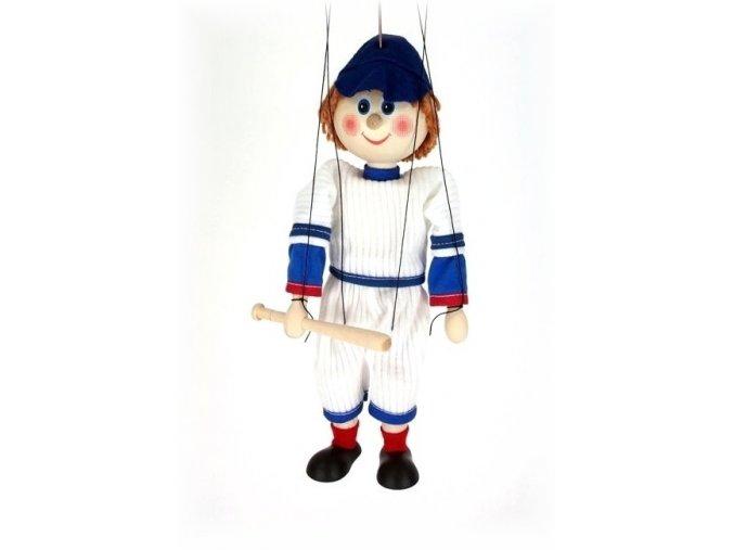 Dřevěná loutka - hračka ze dřeva - Basebalista