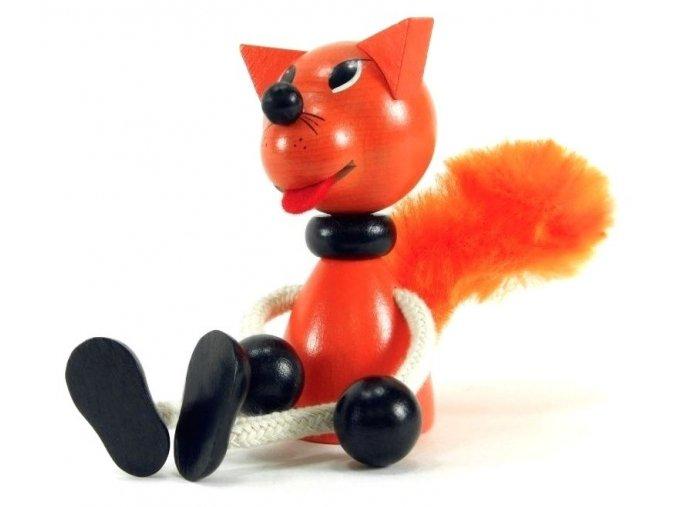 Sedací figurka hračka ze dřeva - Kůň