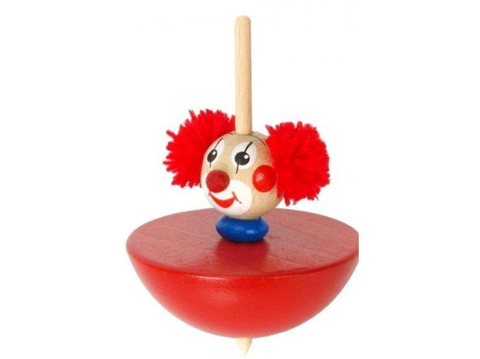 Káča - Klaun hračka ze dřeva