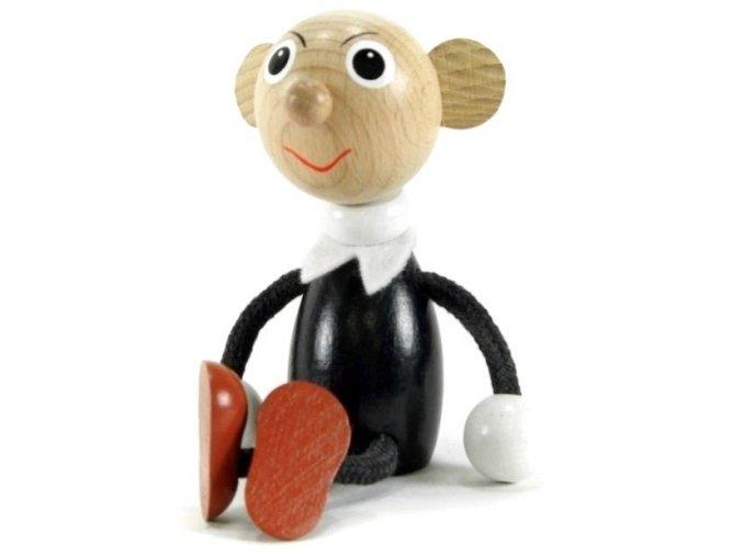 Sedací figurka hračka ze dřeva - Spjebl