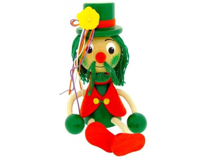Sedací figurka hračka ze dřeva - Hastrman