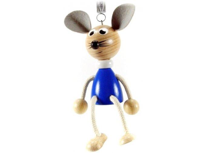 40201 (6) figurka na pruzine ze dreva mys pro deti