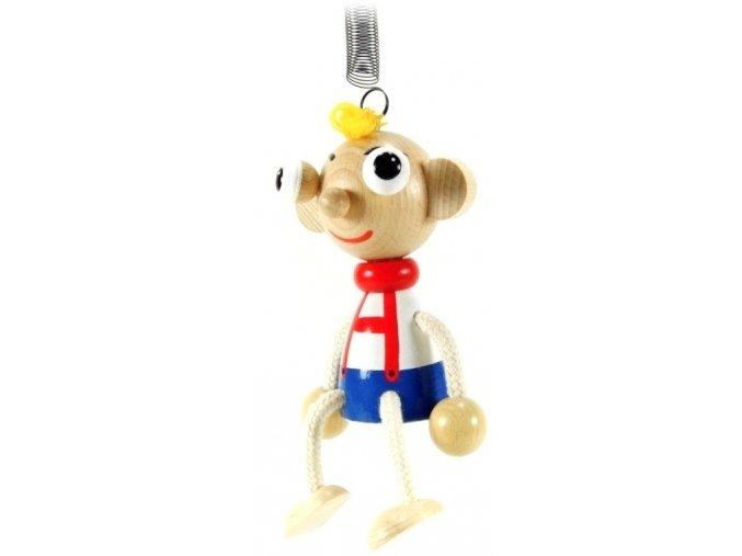 40230 (2) figurka na pruzine ze dreva hurvinek pro deti