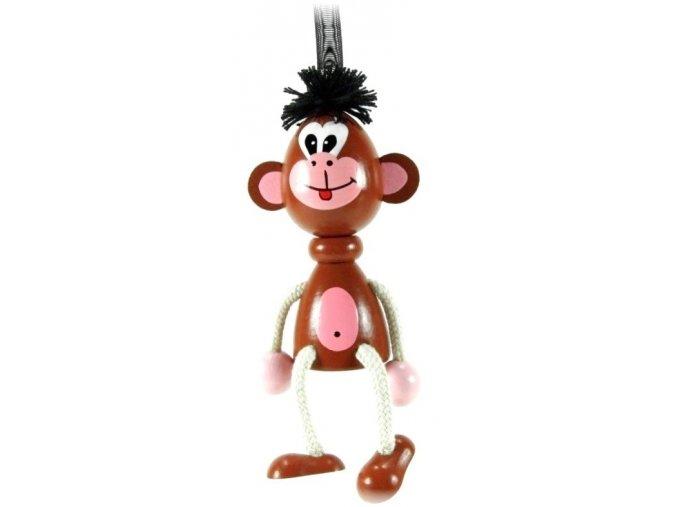 40253 (3) figurka na pruzine ze dreva opice pro deti