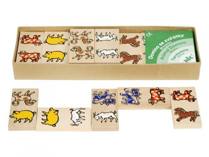 66049 dřevěné domino pro děti domácí zvířata (2)