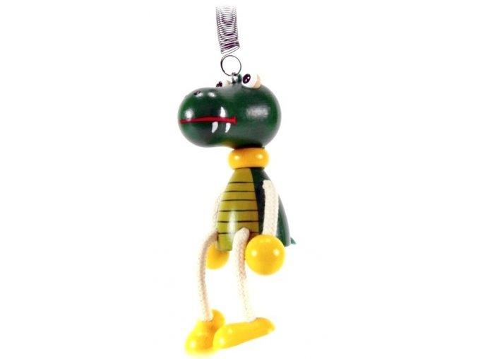 40288 (5) figurka na pruzine ze dreva krokodyl pro deti