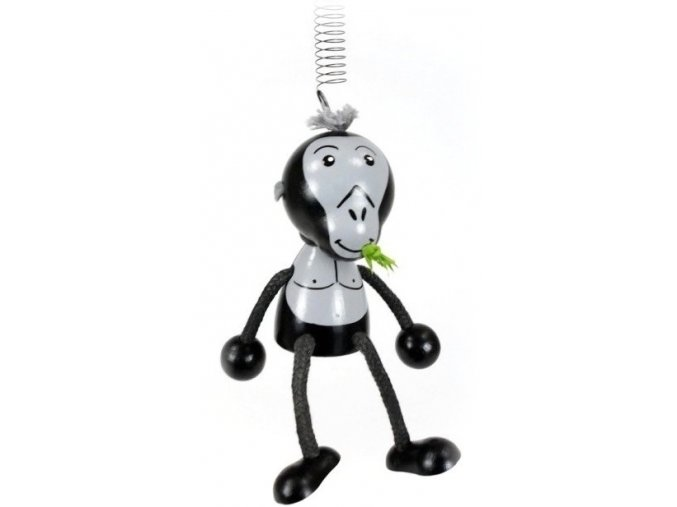 50262 (1) figurka na pruzine ze dreva gorila pro deti