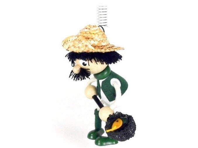 50264 (5) figurka na pruzine ze dreva rybar pro deti