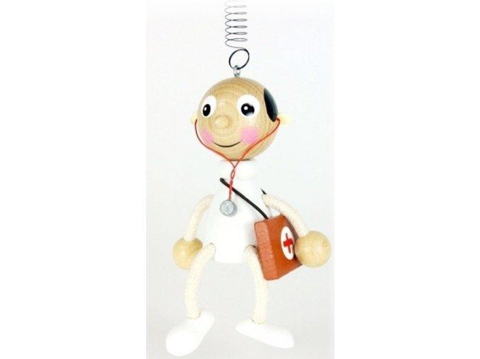 50265 figurka na pruzine ze dreva doktor (2) pro deti