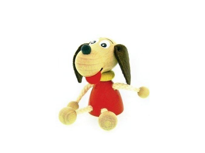Figurka magnetka ze dřeva - Pes