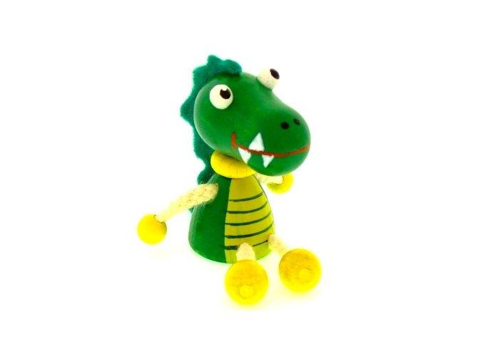 Figurka magnetka ze dřeva - Krokodýl