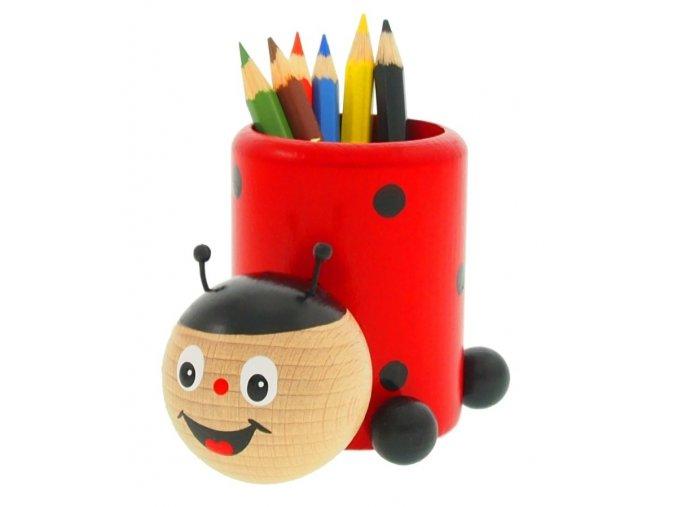 Stojánek na tužky hračka ze dřeva Beruška Sara