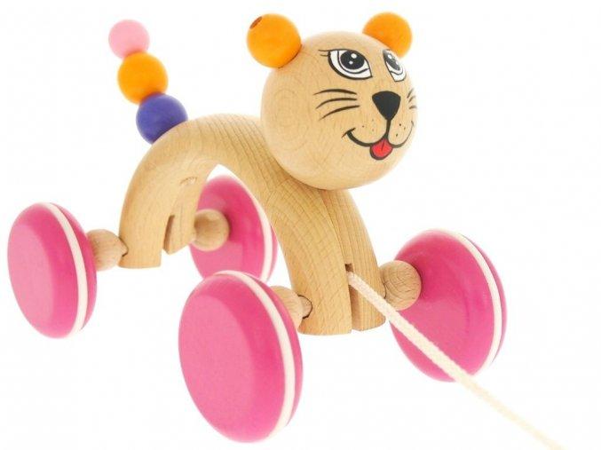 Tahací hračka ze dřeva Kočka (oblouk) Michelle