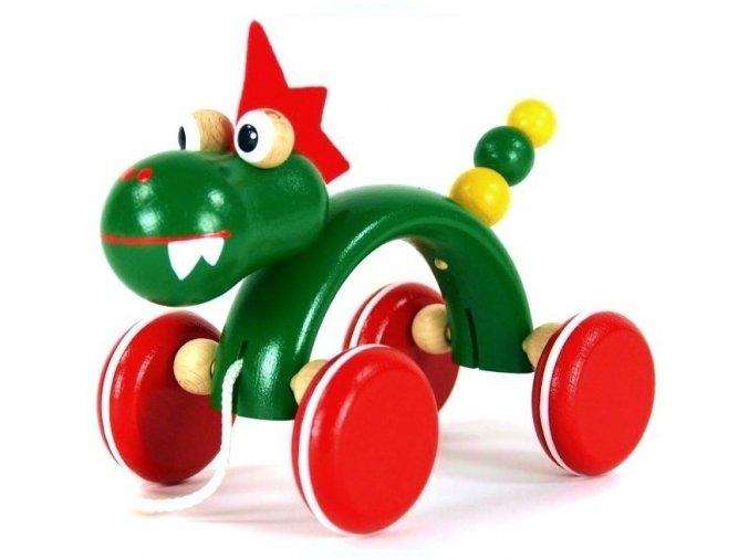 Tahací hračka ze dřeva drak (oblouk) Alex