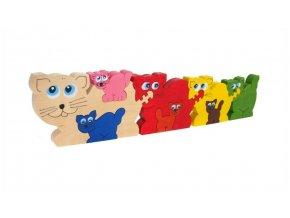 Puzzle -hračka ze dřeva Kočky 8 ks