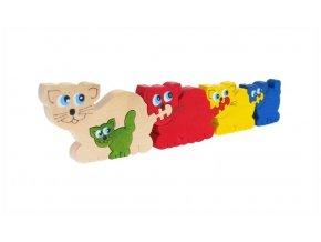 Puzzle -hračka ze dřeva Kočky 5 ks
