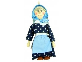 Loutka na tyči hračka ze dřeva - Babička