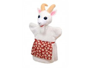 Maňásek - Koza ze zástěrou - hračka z textilu