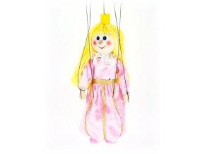 Dřevěná loutka - hračka ze dřeva - Princezna růžová