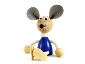 Sedací figurka hračka ze dřeva - Myš