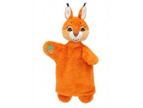 Maňásek - Veverka s oříškem - hračka z textilu