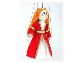 Dřevěná loutka - hračka ze dřeva - Šlechtična červená